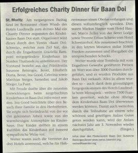 Charity Dinner im Laudinella, St. Moritz